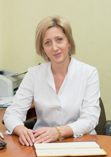 Manzhura Olena Petrivna - Head of the Gynecology Department, the chief gynecological oncologist of the city of Kyiv, superior category surgeon, Ph. D., Cancer Assistant Professor of O.O. Bogomolets National Medical University