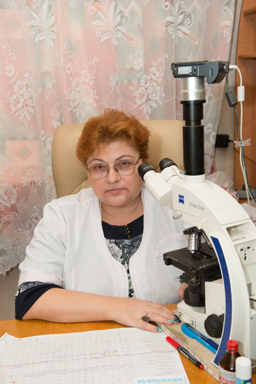 Krasnopolska Valentyna Mykolayivna - Head of the Cytology Laboratory, the superior category laboratory-doctor