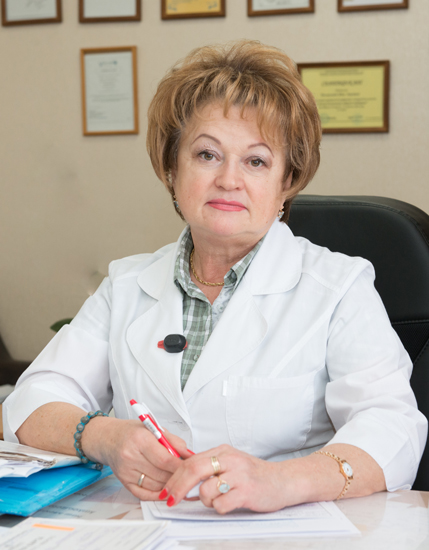 Poliakova Nina Ivanivna - Head of the Radiology Department for open isotopes, the superior category radiologist